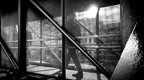 Commuting - Dublin, Ireland - Black and white street photography