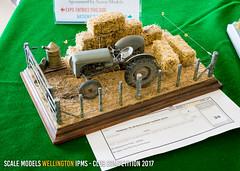 E - Ferguson TE-20 farm tractor haybale scene - Ernie Thompson