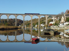 150128 Calstock Viaduct (Marky7890) Tags: gwr 150128 class150 sprinter 2p84 calstockviaduct railway cornwall calstock tamarvalleyline train
