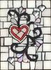 dear heart (toadranchlady) Tags: mosaicart mixedmediamosaic temperedglass stainedglass foundobjects