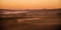 Misty sunrise (Alex . Wendes) Tags: d7000 nikond7000 nikon18105 nikon sunrise mist fog morning earlymorning orange sky fields isleofwight newport flickrgolfclub