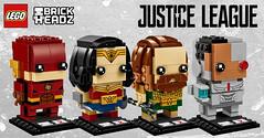 LEGO BrickHeadz 2018 Justice League (hello_bricks) Tags: lego brickheadz 2018 justiceleague flash cyborg wonderwoman aquaman dccomics dc 41598 41599 41600 41601