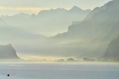 morning glow (prinz59prince) Tags: mountains brienz oberland berner lake sunrise mist twilight fog glow alps switzerland myswitzerland