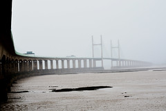 The Second Severn Crossing (Travis Pictures) Tags: severn severnestuary riversevern avon bristol wales england waterway mist border crossing winter outdoors outside bridge cablestayedbridge m4 motorway nikon d5200 photoshop tollbridge road
