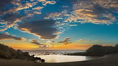 Baby Beach (Jörg Bergmann) Tags: islascanarias lagomera puestadesol vallegranrey atardecer beach canarias canaryislands clouds españa gf7 gomera lumix m43 mft panasonic sky spain sun sunset travel vacation stitched babybeach charcodelconde puesta de sol landscape seascape 20mmf17 horizon microfourthirds micro43