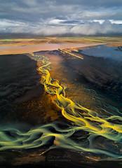 Rusty Curves (orvaratli) Tags: iceland aerial river summer photography pattern drone dji phantom4 plain curves water lake arctic