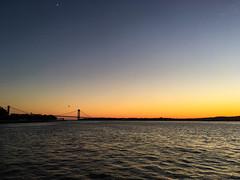 (Cjin99) Tags: newyork unitedstates us nyc ny brooklyn sunset river water skyline bayridge bridge verrazano verrazanonarrowsbridge