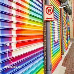 I don't like #activetransportation, DC, or rainbows very much 😉🚶✌️️🌈❤️ #DCAlleyMuseum #Shaw #FutureStartsHere #instaDC