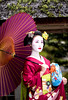 Mameryu - Maiko in Kyoto 07 (JUNEAU BISCUITS) Tags: japan kyoto gion geisha maiko portrait portraiture beauty kimono umbrella garden nikon nikond810