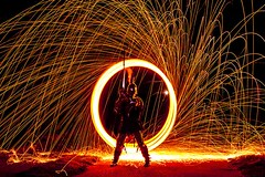knights tale  8t (photoautomotive) Tags: newhaven eastsussex england uk europe wirewool spin spinning sparks longexposure nightshot night knight lord armour sword light lightpainting 13thcentury historic history old outside outdoor 13century