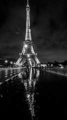 The Eiffel Tower after the rain
