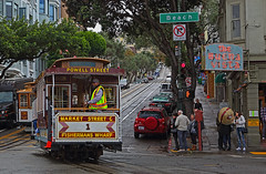 Powell Street Car (ashockenberry) Tags: street car urban city west coast california san francisco