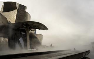 Bilbao,  con lluvia