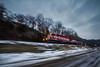 Slow and Steady (Ryan J Gaynor) Tags: wisconsinsouthern wisconsin winter ultrawideangle slowshutterspeed pace railroad railfan railway railroading mood locomotive emdsd402 lowangle