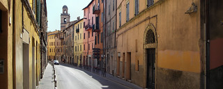 Vibrant Italian colors in Perugia