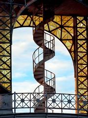 Stairs (markb120) Tags: sky heaven palate blue roofofthemouth sphere cloud eddy stairs staircase ladder stairway footway step spiral helix scroll loop volute spire