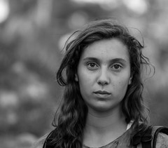Don't stop thinking about tomorrow (ybiberman) Tags: israel jerusalem citycenter girl adolescent portrait candid streetphotography bw eyes lips
