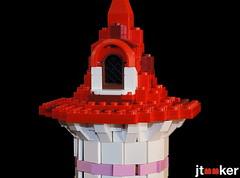 Top of Peach's Tower (jtooker2) Tags: mario tower lego moc mushroomkingdom goomba spiny pipe tree cccxv