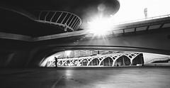 Spaceship (elgunto) Tags: architecture street people buildings valencia sunlight wideangle blackwhite silhouette monochrome bw sonya7 nikon2035 nikkor manuallense