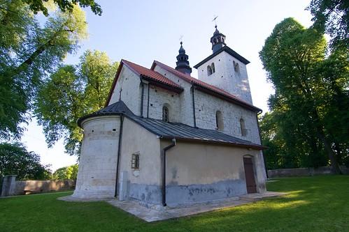 Kościół św. Mikołaja w Wysocicach od północnego wschodu