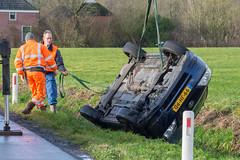 09122017-9480 (Sander Smit / Smit Fotografie) Tags: stadsweg appingedam auto sloot te water ongeluk gladheid dallinga berging