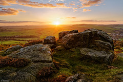 Baslow Sunset (scarramooch) Tags: peakdistrict peaks uk outside outdoors outdoor rocks d7100 district sunset nikon sky peak baslow edge landscape lee sun sunburst england