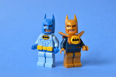 Blue Bat-tle and Bat-ster Gold (th_squirrel) Tags: lego dc comics batman blue beetle booster gold minifig minifigs minifigures minifigure