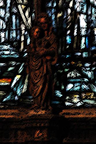12 - Reims - Eglise Saint Jacques - Vierge à l'Enfant dans la chapelle absidiale nord