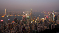 Harbour view at dusk from The Peak (snapcat101) Tags: hongkong victoriaharbour