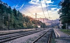 Borovnica railway station (rlubej) Tags: notranjska railroad