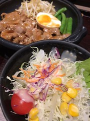 Salad Food And Drink Healthy Eating Freshness Vegetable Food Indoors  Ready-to-eat Bowl No People Noodles Close-up High Angle View Bean Sprout Egg Yolk Day (HotDuckZ) Tags: salad foodanddrink healthyeating freshness vegetable food indoors readytoeat bowl nopeople noodles closeup highangleview beansprout eggyolk day