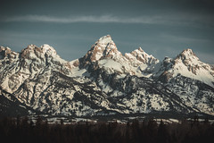 The Tetons (Zach Stambaugh) Tags: mount mountains grand tetons grande trees snow big color rock orange trails sky blue brown