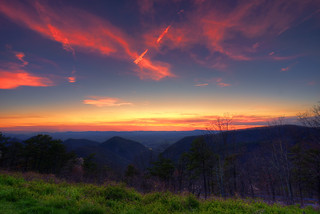 Blue Ridge Parkway Buena Vista sunset