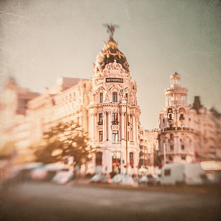 Madrid through the Lensbaby view