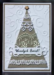 IMG_4832 (piechot) Tags: christmas xmas tree eco kraft paper hand lace greeting card handmade maremi