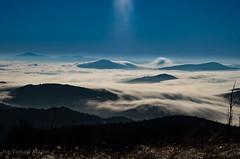 IMGP6376 (TomaszMazon) Tags: mountains beskidy moonlight moonset clouds fog poland