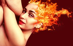 fuego (Cristina Seijas) Tags: fire fuego girl chica hades cristina yo me myself edit edición photoshop imagnation imagination imaginación rojo red face cara beauty belleza