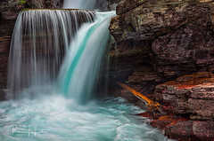 Waterfall Wednesday: Turquoise Hues of Saint Mary Falls (rebeccalatsonphotography) Tags: waterfallwednesday waterfall turquoise silky silkywater stmary saintmary falls np glacier glaciernationalpark nationalpark canon rebeccalatsonphotography rebecca latson photography canonef24105mmf4lisusm