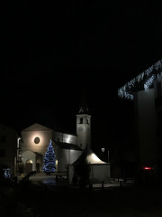 pre Christmas vision (quanuaua) Tags: ifttt 500px city street travel night light italy tower architecture cityscape illuminated santa maria valtellina livigno town square