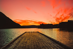 _DSC0179-2 (mood1975) Tags: bay sea sunset mountains norway summer