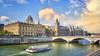 (836/17) Paseando por el Sena (Pablo Arias) Tags: pabloarias photoshop photomatix capturenxd edificios ciudad bote barco puente agua gente cielo nubes muro paris francia conciergerie
