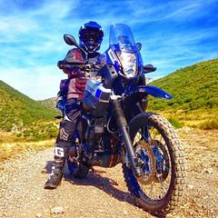 Selfie...📷 (carlesbaeza) Tags: advrider adventure adventurerider travel motobiker moto motorcycle motorrad yamaha tenere xt660z offroad free mountain