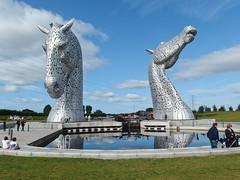 The Kelpies in Falkirk (danube9999) Tags: horse kelpies statue helix helixpark falkirk scotland
