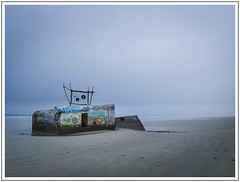 Bunker (adam_pierz) Tags: bunker beach brittany clouds lx5 panasonicg5