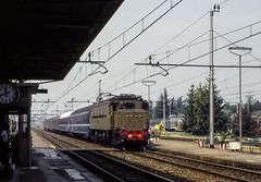 FS E 428.118 I Staz Stradella 05/08/1984. Foto Roberto Trionfini (stefano.trionfini) Tags: train treni bahn zug fs e428 stradella lombardia italia italy