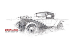 Lancia 03s (Stefan Marjoram) Tags: car sketch vintage art drawing watercolour