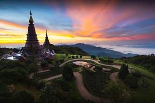 The Great Holy Relics Pagoda Nabhapolbhumisiri, Chiang mai, Thailand