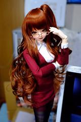 隠し子のアイリてんてー (nanatsuhachi) Tags: ドール doll bjd balljointeddoll bunnybunny ninestyle nine9style iris アイリさん mar6 glasses 眼鏡