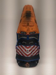 METRA 614 NOSE (Set and Centered) Tags: metra railroad model railroading ho scale 187 train passenger commuter emd f40c shapeways 3d printing circus city decals and graphics esu loksound electro motive divison 614 edward f brabec