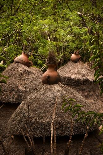 Konso Hut Pots